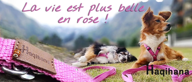 Harnais Haqihana Rose Pink
